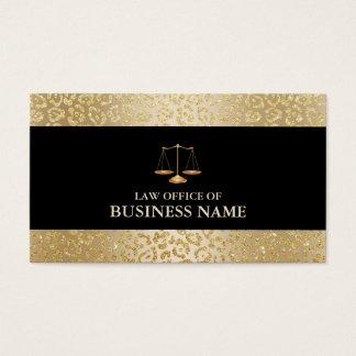 Advogado moderno da escala da lei da beira do cartão de visitas