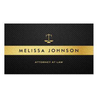 Advogado moderno elegante profissional do preto & cartoes de visita