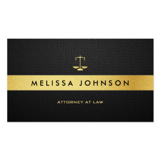 Advogado moderno elegante profissional do preto cartoes de visita