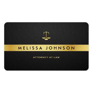 Advogado moderno elegante profissional do preto & cartão de visita
