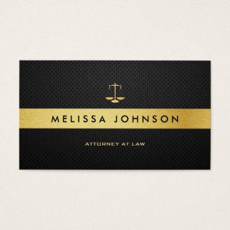 Advogado moderno elegante profissional do preto & cartão de visitas