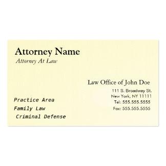 Advogado moderno - simples, limpo, elegante cartão de visita