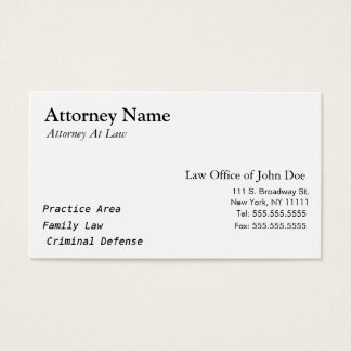 Advogado moderno - simples, limpo, elegante cartão de visitas