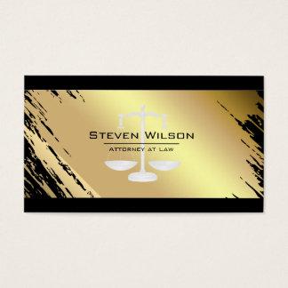 Advogado na escala legal do metal do preto do ouro cartão de visitas