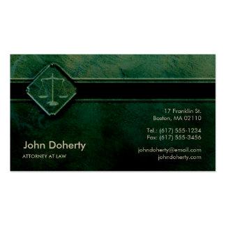 ADVOGADO na LEI - cartão de visita verde