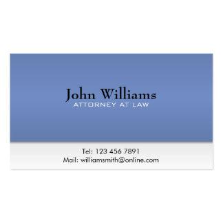 Advogado na lei - cartões de visitas