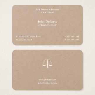 Advogado na lei mim escalas de justiça cartão de visitas
