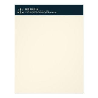 Advogado no advogado da escala do ouro dos azuis papel timbrado