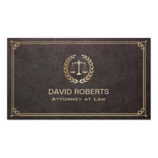 Advogado no advogado de couro elegante da escala cartão de visita