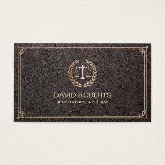 Advogado no advogado de couro elegante da escala cartão de visitas