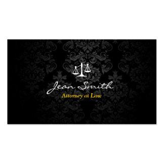 Advogado no advogado escuro elegante do damasco da cartão de visita