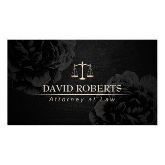 Advogado no advogado floral preto elegante da lei cartão de visita