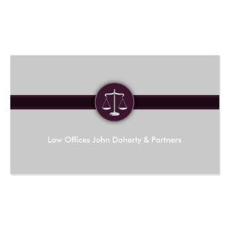 Advogado no advogado moderno perfeito da lei | cartão de visita
