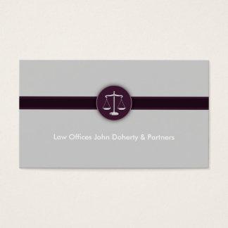 Advogado no advogado moderno perfeito da lei | cartão de visitas