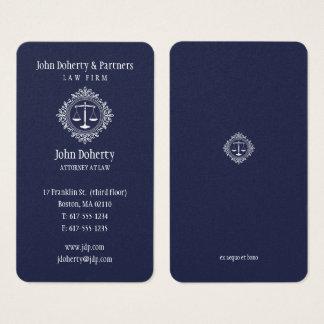 Advogado no azul elegante da lei | cartão de visitas