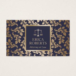 Advogado no azul luxuoso da lei & advogado do cartão de visitas