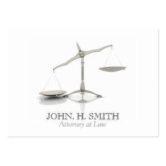 Advogado no cartão de visita da lei