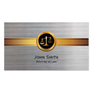 Advogado no ouro da lei & no advogado modernos da cartão de visita