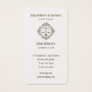 Advogado no ouro elegante da lei | cartão de visitas