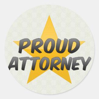 Advogado orgulhoso adesivo em formato redondo