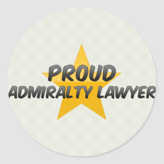 Advogado orgulhoso de Admiralty Adesivo Redondo