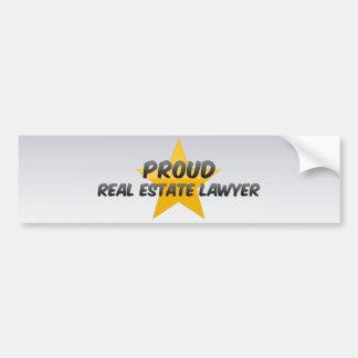 Advogado orgulhoso dos bens imobiliários adesivo para carro