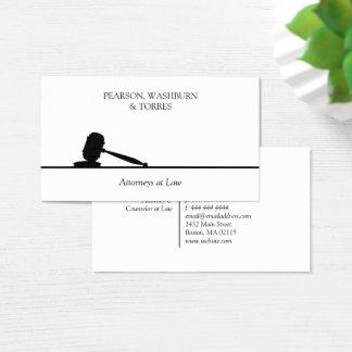 Advogado preto & branco do Gavel na lei Cartão De Visitas