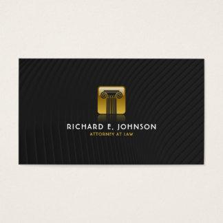 Advogado preto & liso da empresa de advocacia do cartão de visitas