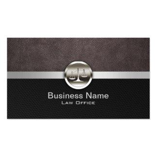 Advogado profissional do couro & do metal cartão de visita