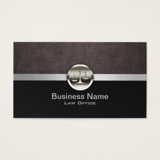 Advogado profissional do couro & do metal cartão de visitas