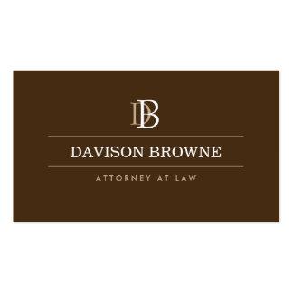 Advogado profissional do monograma, advogado Brown Cartão De Visita