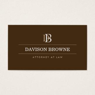 Advogado profissional do monograma, advogado Brown Cartão De Visitas