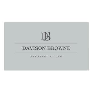 Advogado profissional do monograma, ardósia do cartão de visita