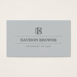 Advogado profissional do monograma, ardósia do cartão de visitas