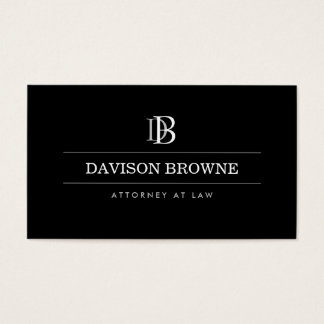 Advogado profissional do monograma, preto do cartão de visitas