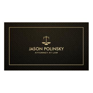 Advogado profissional & moderno do preto & do ouro cartão de visita