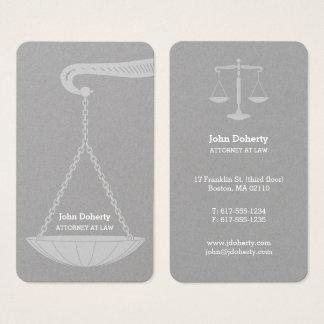 Advogado profissional na lei | elegante cartão de visitas