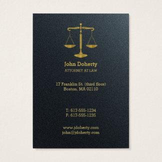 Advogado profissional no ouro da lei | cartão de visitas