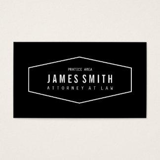 Advogado profissional preto e branco retro cartão de visitas
