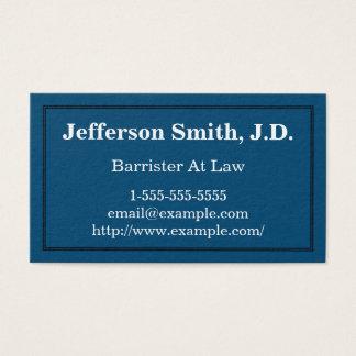 Advogado simples e básico no cartão de visita da