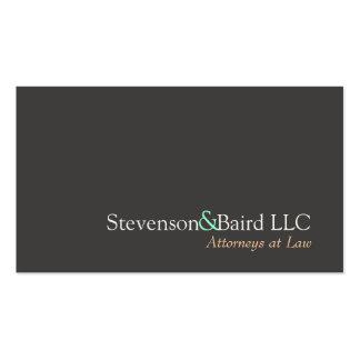 Advogado simples no cartão de visita da lei