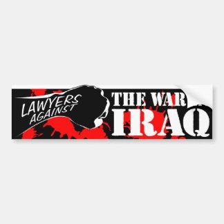 Advogados contra a guerra no iraque adesivo para carro
