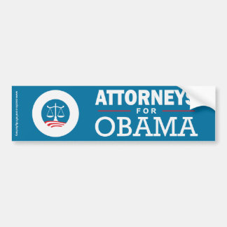 Advogados para Obama Adesivo Para Carro