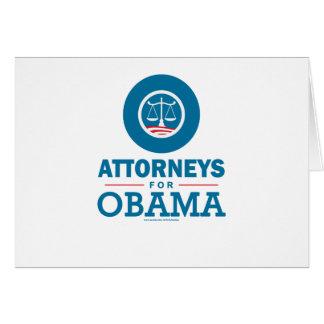 Advogados para Obama Cartão Comemorativo