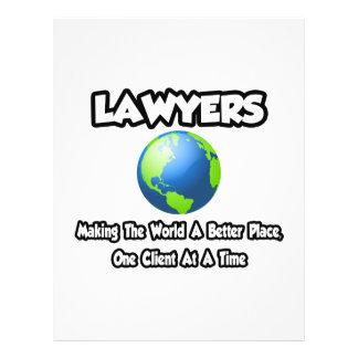 Advogados… que fazem ao mundo um lugar melhor panfletos personalizado