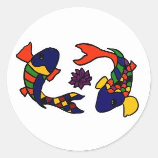 AE desenhos animados coloridos da arte dos peixes Adesivo
