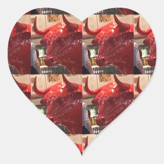 Aeroporto feroz vermelho Londres Reino Unido de Adesivo Coração