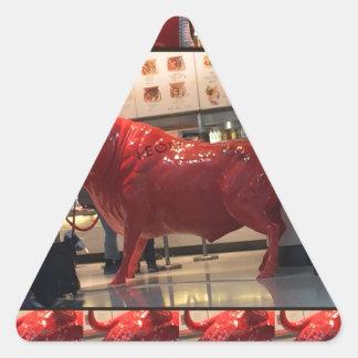 Aeroporto vermelho Londres Inglaterra Reino Unido Adesivo Triangular