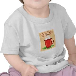 Afago acima com chocolate quente t-shirts