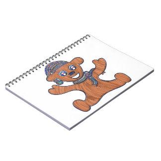 Afagos do urso de ursinho caderno